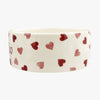 Personalised Pink Hearts Pussycat Large Pet Bowl