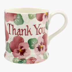 Peronalised Pink Pansy 1 Pint Mug