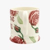 Personalised Pink Roses 1/2 Pint Mug