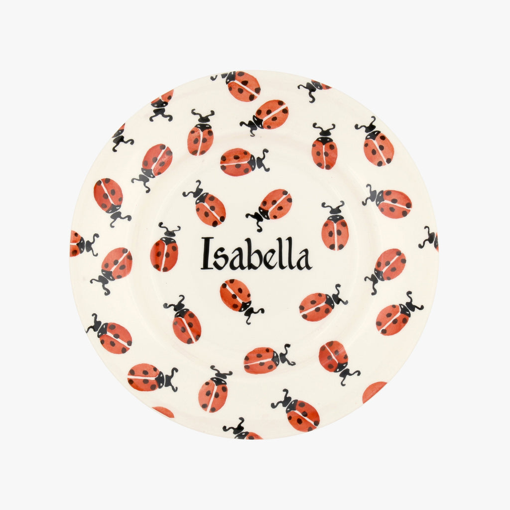 "Personalised Red Ladybird 8 1/2"" Plate"
