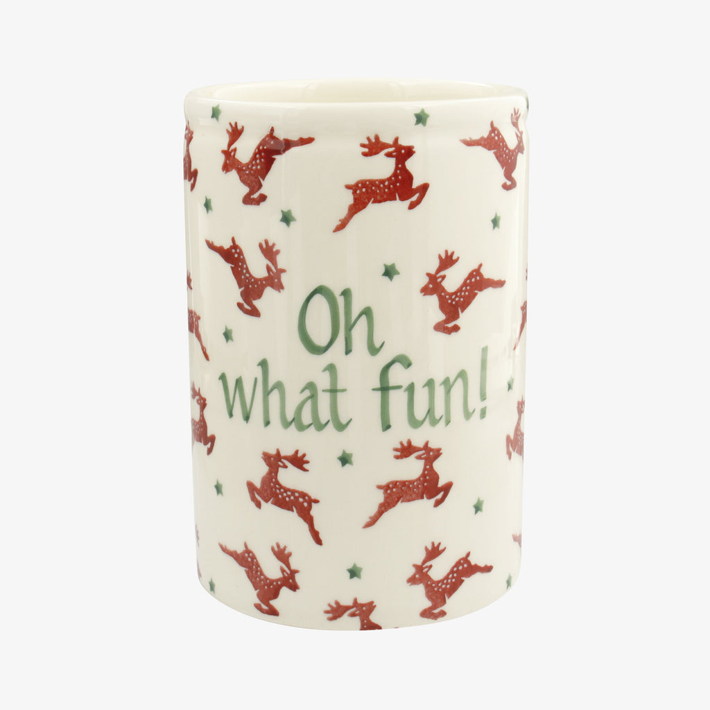 Personalised Reindeer Medium Vase