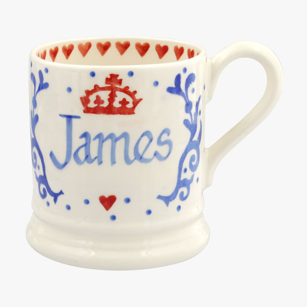 Personalised Royal Baby Blue 1/2 Pint Mug