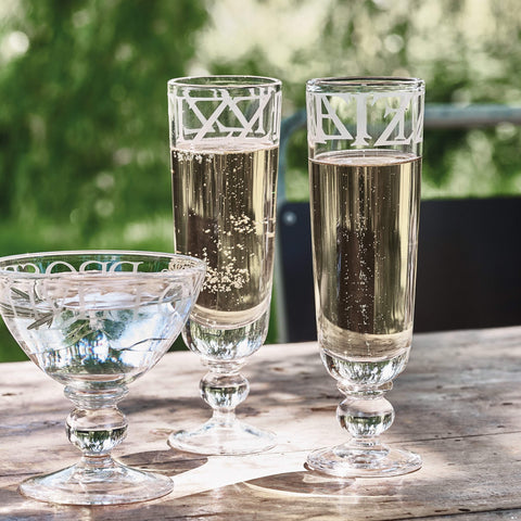 Black Toast Set of 2 Glass Flutes Boxed