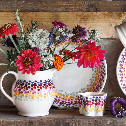 Rainbow Dots 1/2 Pint Jug
