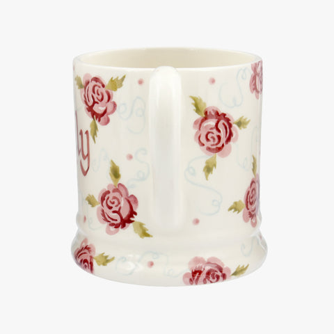 Personalised Tiny Scattered Rose 1/2 Pint Mug