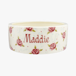 Personalised Tiny Scattered Rose Large Pet Bowl