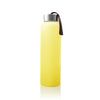 Vattenflaska i Glas med Silikonskydd 400 ml Bright Yellow