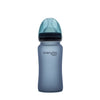Nappflaska i Glas med Värmeindikator 240 ml Blueberry - Everyday Baby AB