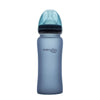 Nappflaska i Glas med Värmeindikator 300 ml Blueberry - Everyday Baby AB
