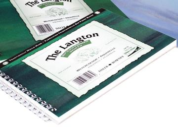 Daler Rowney Langton Spiral Bound Watercolour paper pads 140lb NOT Surface