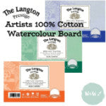 "Daler Rowney Langton Prestige 2mm thick Watercolour Boards 30 x 22""- HP, NOT & Rough"