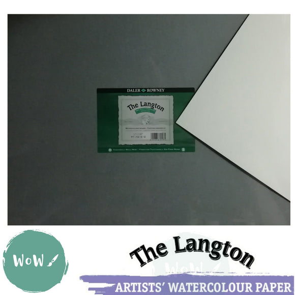 Daler Rowney Langton Watercolour Board NOT Surface 2mm thick- Various Sizes