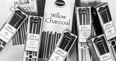 Coates 3 Thick Willow Charcoal Sticks