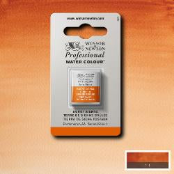 Winsor & Newton Professional (Artists) Water Colour HALF PAN -  BURNT SIENNA