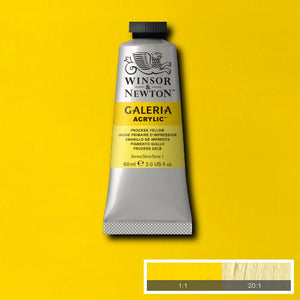 Winsor & Newton Galeria Acrylic 60ml tubes-  PROCESS YELLOW