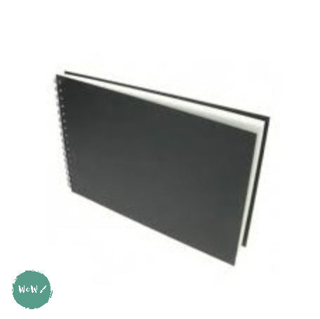 Heavyweight 220gsm white cartridge, Spiral bound Hardback sketchbook, 30 sheets- A3 Landscape