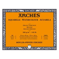 Arches Watercolour Block ROUGH  140 lb/ 300 gsm WHITE  31 x 41 cm, 12 x 16