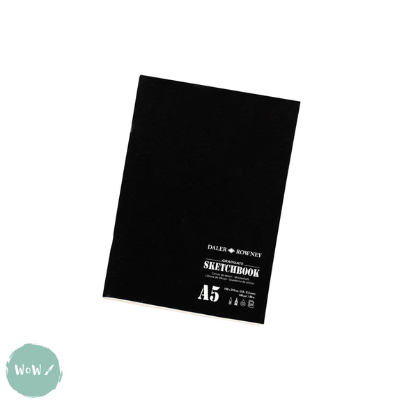 Softback Sketchbook- Daler Rowney Graduate Stapled Matt Soft Cover A5 140g 20sh