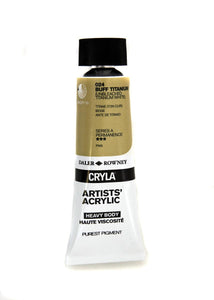 Daler Rowney Cryla Artists Acrylic 75ml Tubes-  BUFF TITANIUM