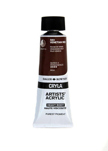 Daler Rowney Cryla Artists Acrylic 75ml Tubes-  VENETIAN RED