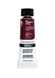 Daler Rowney Cryla Artists Acrylic 75ml Tubes-  PERMANENT VIOLET