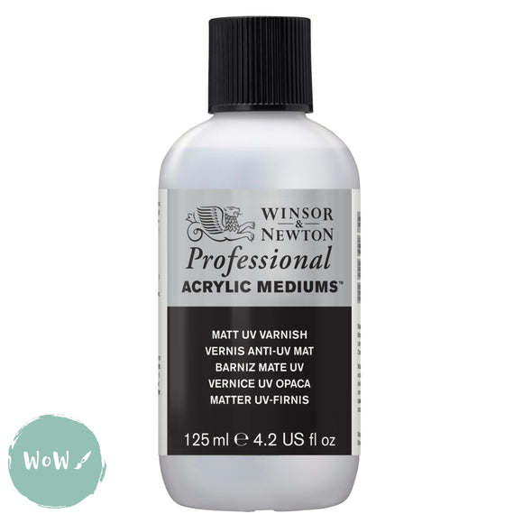 Acrylic Mediums- Winsor & Newton Professional-  125ML MATT UV VARNISH