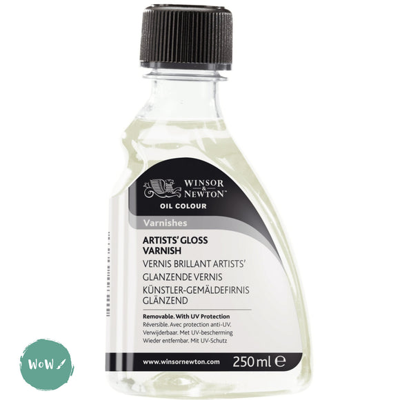 Varnish (Brush Applied)- Winsor & Newton 250ml ARTISTS' GLOSS VARNISH