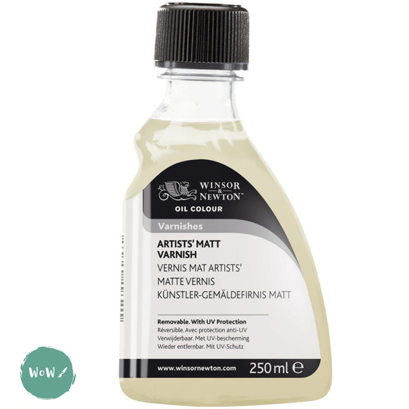 Varnish (Brush Applied)- Winsor & Newton 250ml ARTISTS' MATT VARNISH