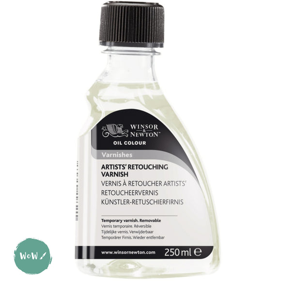 Varnish (Brush Applied)- Winsor & Newton 250ml ARTISTS' RETOUCHING VARNISH