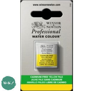Winsor & Newton Professional (Artists) Water Colour HALF PAN -  CADMIUM-FREE YELLOW PALE