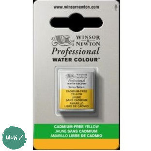 Winsor & Newton Professional (Artists) Water Colour HALF PAN -  CADMIUM-FREE YELLOW