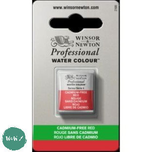 Winsor & Newton Professional (Artists) Water Colour HALF PAN -  CADMIUM-FREE RED