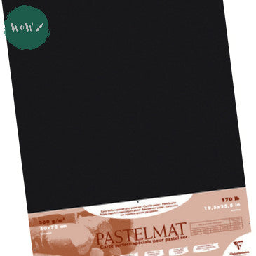 Clairefontaine PASTELMAT 360gsm PACK of 5 Sheets 50x 70 cm Anthracite