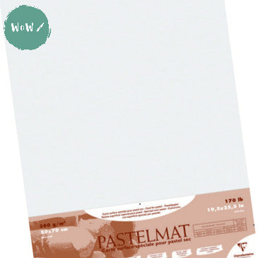 Clairefontaine PASTELMAT 360gsm PACK of 5 Sheets 50x 70 cm White