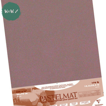 Clairefontaine PASTELMAT 360gsm PACK of 4 Sheets 50x 70 cm Brown
