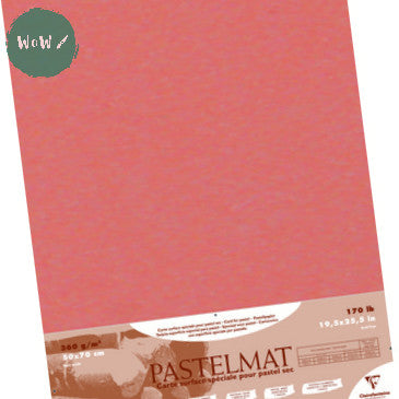 Clairefontaine PASTELMAT 360gsm PACK of 5 Sheets 50x 70 cm Sienna