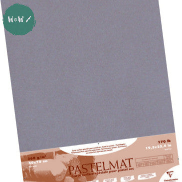 Clairefontaine PASTELMAT 360gsm PACK of 5 Sheets 50x 70 cm Dark Grey