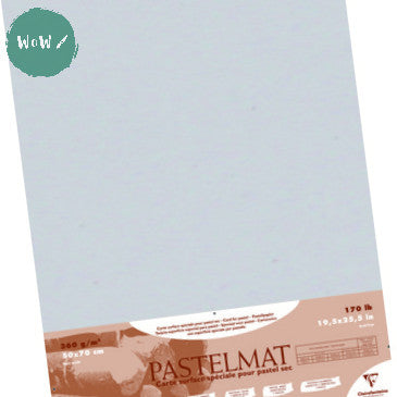 Clairefontaine PASTELMAT 360gsm PACK of 5 Sheets 50x 70 cm Light Grey