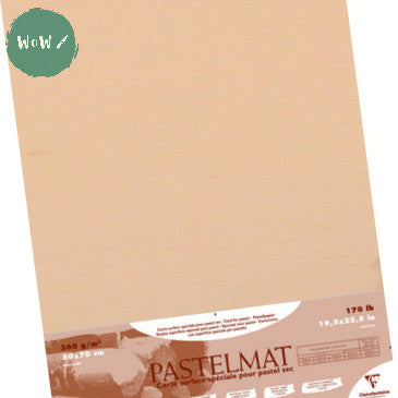 Clairefontaine PASTELMAT 360gsm PACK of 5 Sheets 50x 70 cm Maize