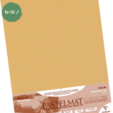 Clairefontaine PASTELMAT 360gsm PACK of 5 Sheets 50x 70 cm Buttercup