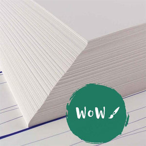 Cartridge Paper sheets- 220gsm white, All-Media  - 10 sheets