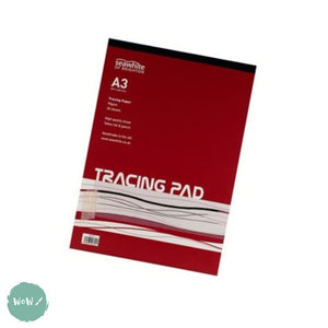 Tracing Paper Pad 90gsm A3, 30 sheets