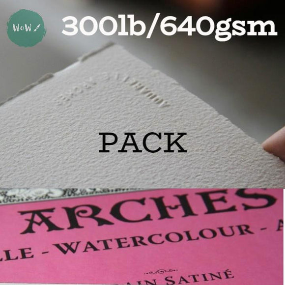 Arches Aquarelle Watercolour paper sheet 300lb/640gsm, 22 x 30