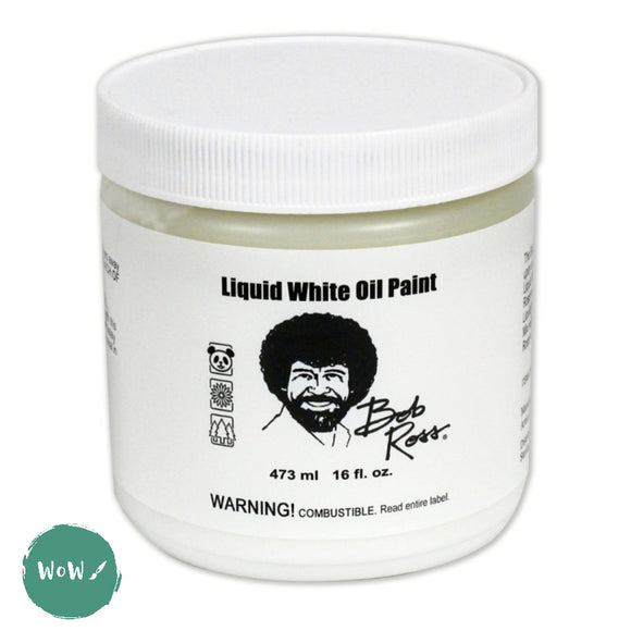 Bob Ross Liquid WHITE - 16 US fl.oz. (473ml) Jar