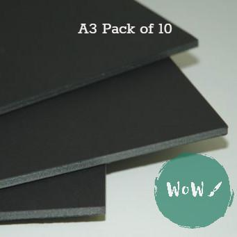 Foamboard 5mm A3- Black PACK OF 10