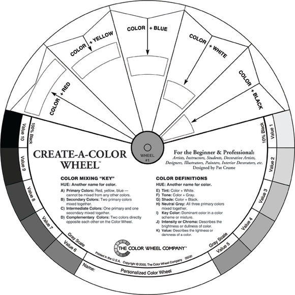 Color Wheel Create-A-Colour Artists Colour Mixing guide