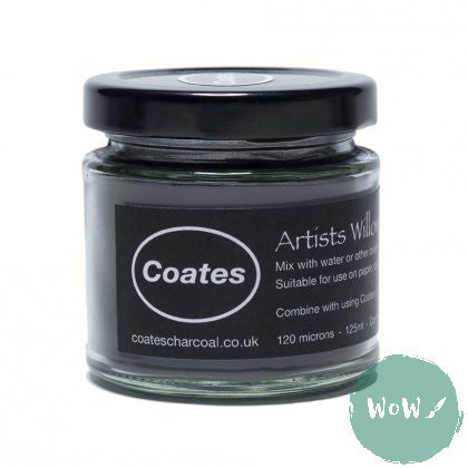Coates Artists Willow Charcoal Powder 125ml Jar