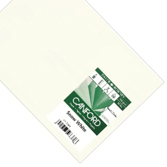 Cartridge paper sheets- A1 150gsm Daler Rowney Canford SNOW WHITE- 10 sheets