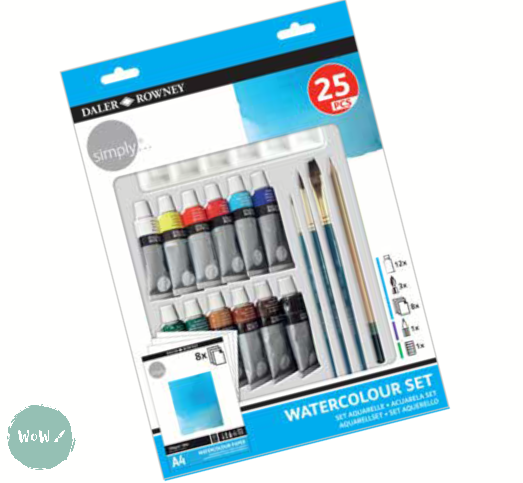 Daler Rowney Simply Watercolour 25 Piece Starter Set