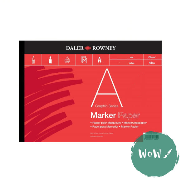 Daler Rowney Artists Graphic Series Bleedproof Marker Pad A3